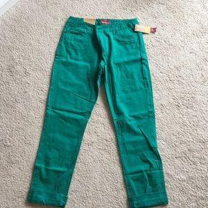 New Merona green jeans.